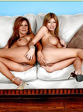 Lesbian chicks with big tits Demi Delia and Lisa Daniels are having hot sex