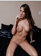 Alluring babe Kortney Kane prefers to bang with her neighbor and eat load