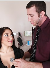 Romantic babe Liv Aguilera prefers to swallow her doctor
