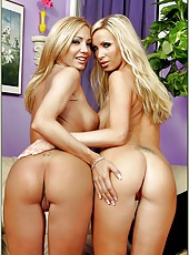 Nikki Benz and Lexxi Tyler pleasing each other in various positions