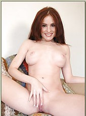 Splendid babe with delicious tits Ginger Lea loves fucking with sexy guys