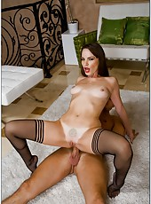 Amazing lady Dana DeArmond gets her snach licked and drilled really hard