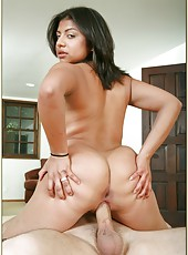 Seductive Sophia Layne showing round butt outside and getting nailed