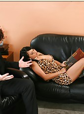 Spoiled coquette Mariah Milano showing big tits and riding her friend