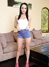 Adventurous milf Katie St. Ives posing for the audience and riding dick