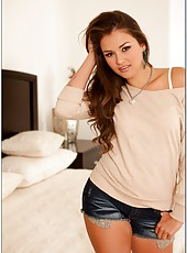 Petite chick Allie Haze loves swallowing yummy daggers and getting warm load