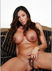 Brave milf Ariella Ferrera adores showing her big tits and tasting new dicks