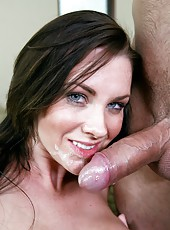 Exceptional wife Brandi Edwards making a blowjob and getting her pussy licked