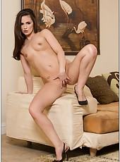 Zingy flapper Lily Carter stripping for her friend and making him satisfied