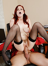 Naive Penny Pax gets a hard dagger and wants to swallow it right at work