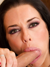 Veronica Avluv riding a big hard dagger and getting multiple orgasms