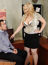 Curious bitch Sarah Vandella tastes a new wiener and gets fully satisfied