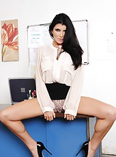 Ambitious Romi Rain prefers acting naughty with guys when she is at work