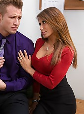 Sparkling Madison Ivy getting naked and pleasing her friend with a blowjob