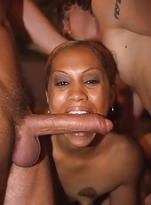 Cloe gets the fuck of a lifetime in this interracial 3way