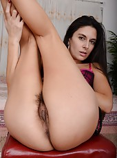 Wonderful MILF Nikki Daniels playing with her sweet boobs and pussy