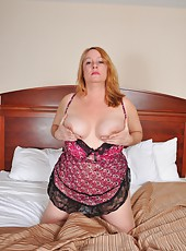 Big fat BBW Misty Luv Blu showing her huge ass and her enormous boobs
