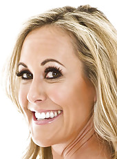 MILF blonde Brandi Love takes off her awesome pink lingerie in close-up