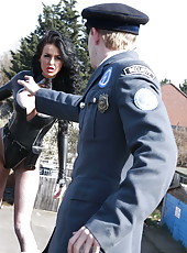 Hardcore young policeman with big dick is fucking with nice milf Stacey Lacey
