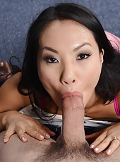 Asian MILF Asa Akira getting drilled in her asshole and gets a cumshot