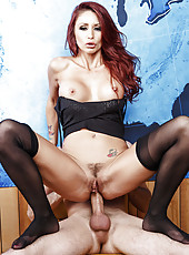 Winsome babe Monique Alexander being humped in a lot of different positions