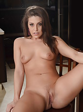 Prepossessing babe Gracie Glam showing her round ass and her sweet tits