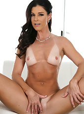 Unmatched MILF India Summer taking off her white dress and shows her body
