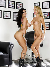 Remarkable and facialized lesbians Romi Rain and Sarah Jessie in the action