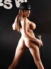 Big titted Madison Ivy undresses to show you her shaved pusy and delicious boobs
