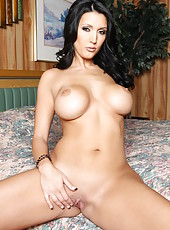 Busty brunette bombshell Dylan Ryder has beautiful big melons and perfect pussy