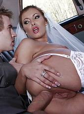 Nasty bride Donna Bell banging with her husband and amazing strangers