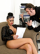Ardent bitch Angelina Valentine enjoys a huge wiener and gets nailed hard