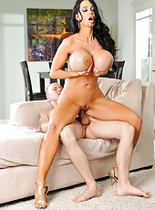 Amy Anderssen using her gigantic tits to make handsome boys fully satisfied