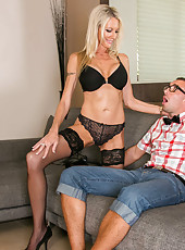 Ardent hooker Emma Starr loves getting naughty with young sexy fellows