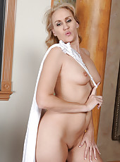 46 year old Emerald Rose from AllOver30 slips out of her white lingerie