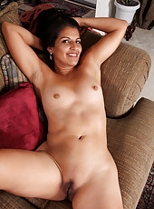 Beautiful 41 year old Saffron LeBlanc from AllOver30 opens her legs