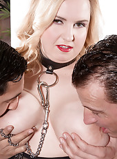A Busty Anal Slave For Two Men