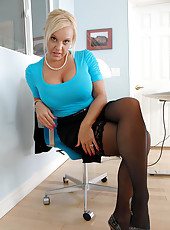 Fantasize about Alexis Golden a naughty busty employee who seeks some cock attention