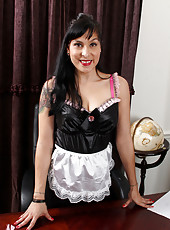 Horny Betty Jones becomes a maid of seduction