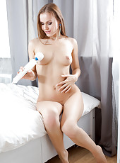 Sabrina Moor is absolute sexual perfection when she cums on her vibrator