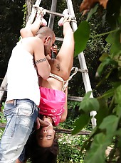Nikita Bellucci kidnapped and tied