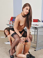 Tina spanked & punished by Brandy