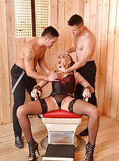 Kayla Green  rough sex with two men