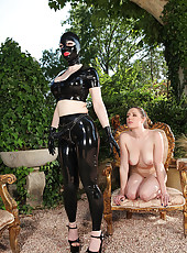 Latex Lucy Plugs Slavegirl