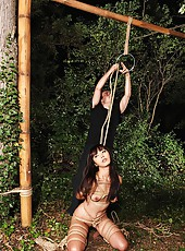 Japanese Babe Tied Up & Hung In Air