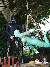 Latex Lucy Gets Suspended & Poked