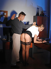 Boss Gives Secretary A BDSM Lesson