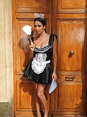 French Maid Gets It Deep In Her Ass