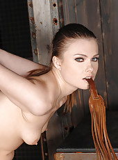 Two Girls Caged, Flogged, & Fucked
