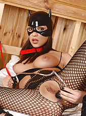 Kittenish Slavegirl Lapping Up Milk